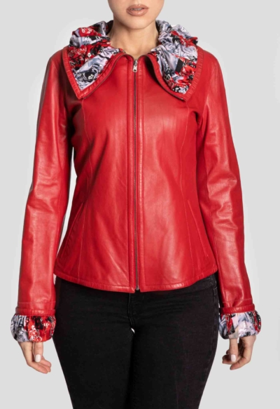 LEATHER JACKET – RED DOUBLE FACE