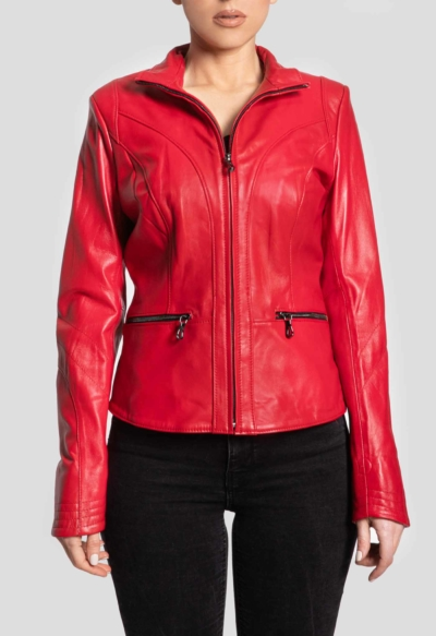 LEATHER JACKET – RED PASSION