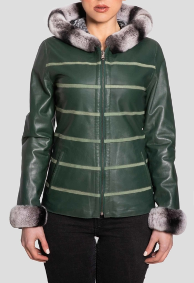 LEATHER JACKET – DOUBLE FACE GREEN