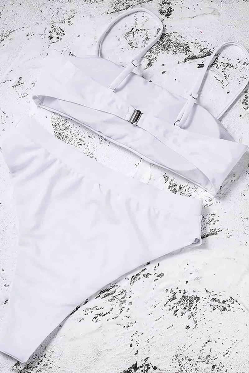 Μαγιό Σετ Μπικίνι – Ψηλόμεσο Λευκό